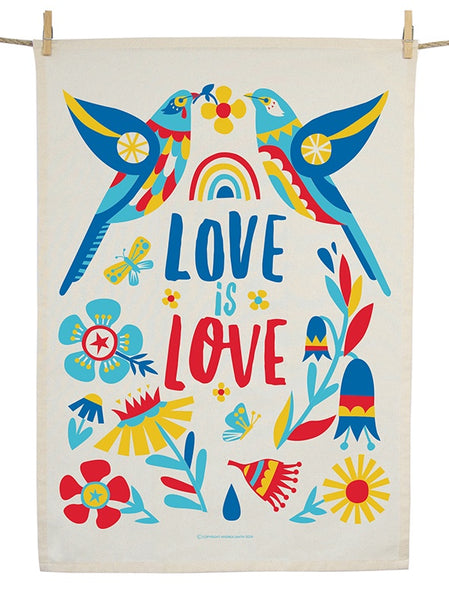 Organic Cotton Love Wattlebirds Tea Towel