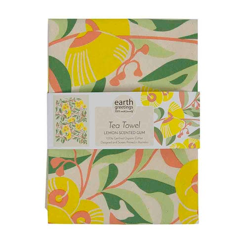 Organic Cotton Lemon-scented Gum Tea Towel