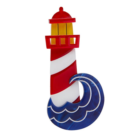 Erstwilder Round the Twist Lighthouse Brooch
