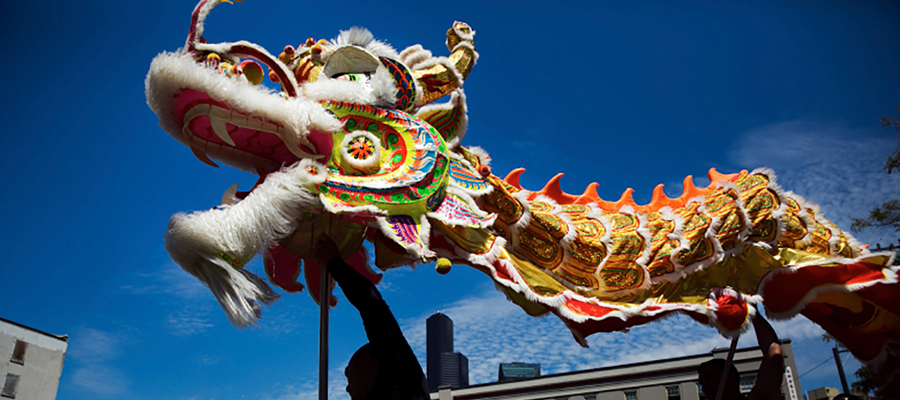 Dragon dancers in the Seattle International District