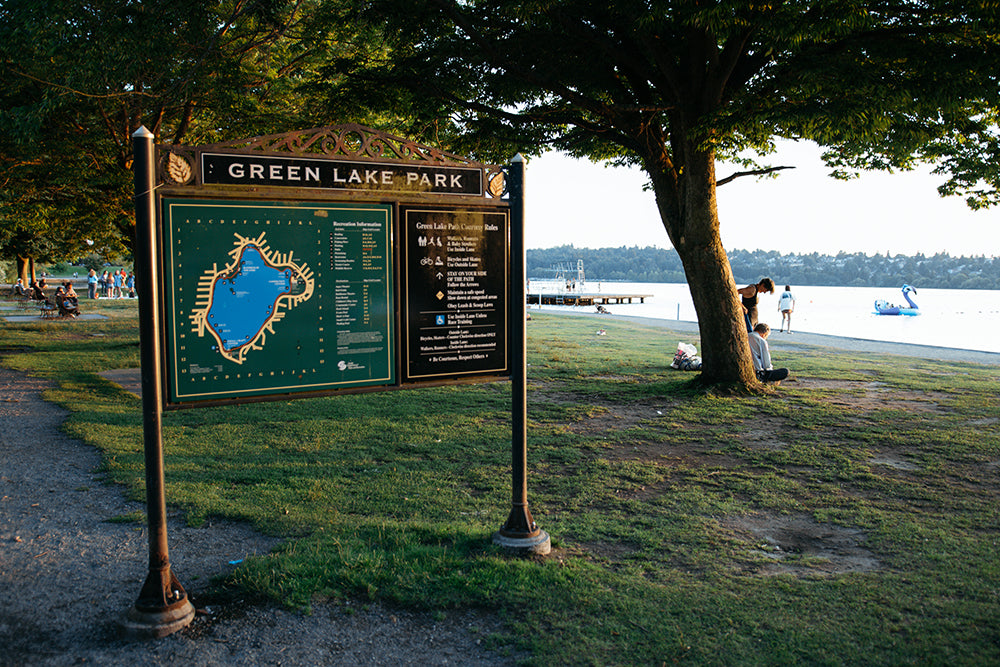 Map of Green Lake Park in Seattle