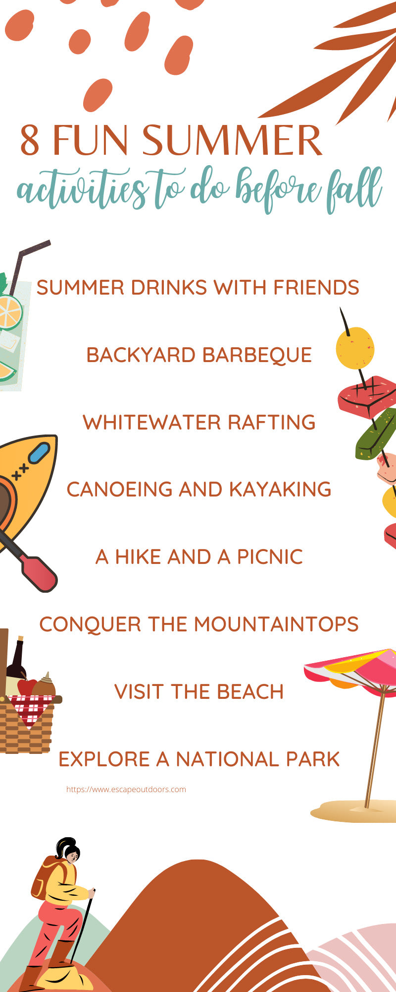 8 Fun Summer Activities To Do Before Fall