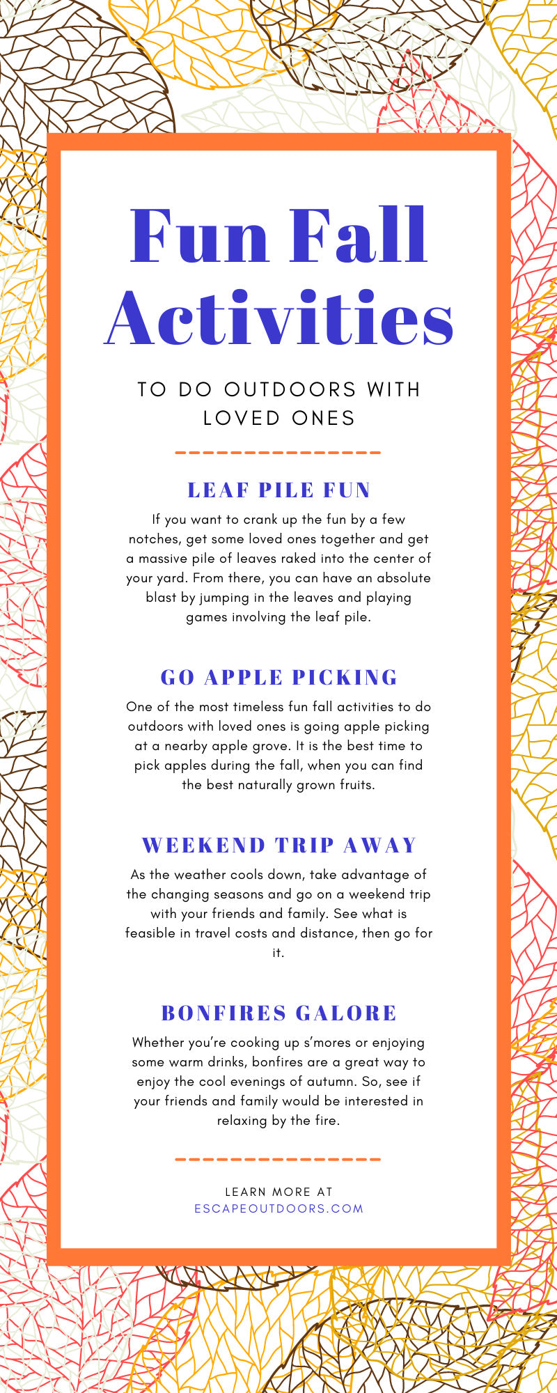 Fun Fall Activities To Do Outdoors With Loved Ones