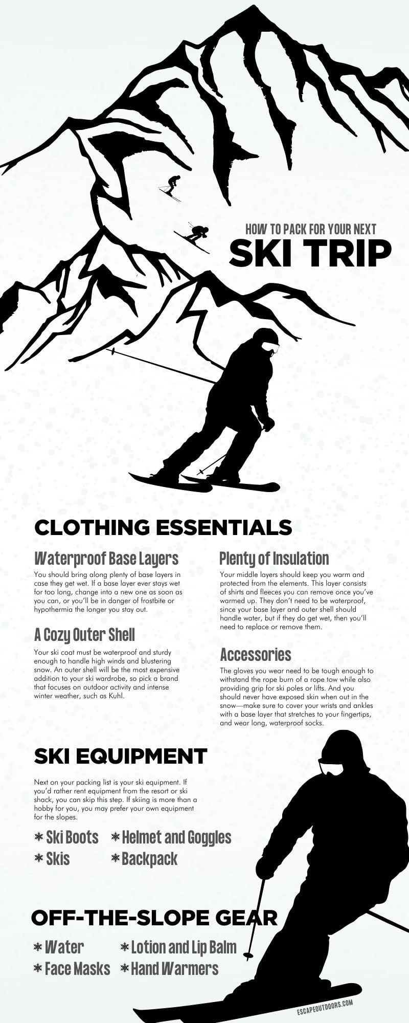 How To Pack for Your Next Ski Trip