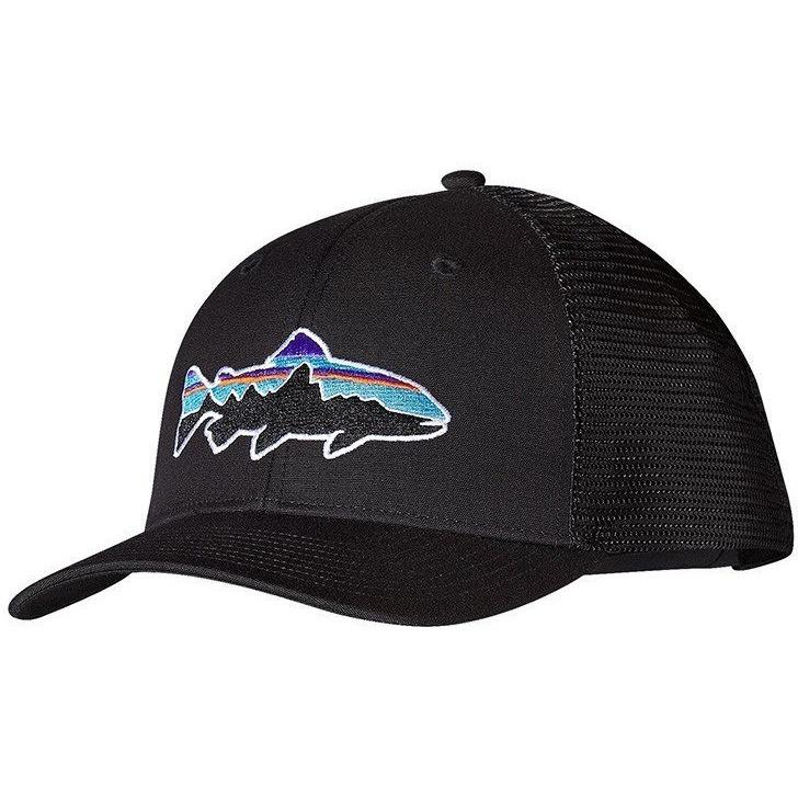 76af14d70f271 Home Accessories Patagonia Men s Fitz Roy Trout Trucker Hat. Patagonia.  Black ...