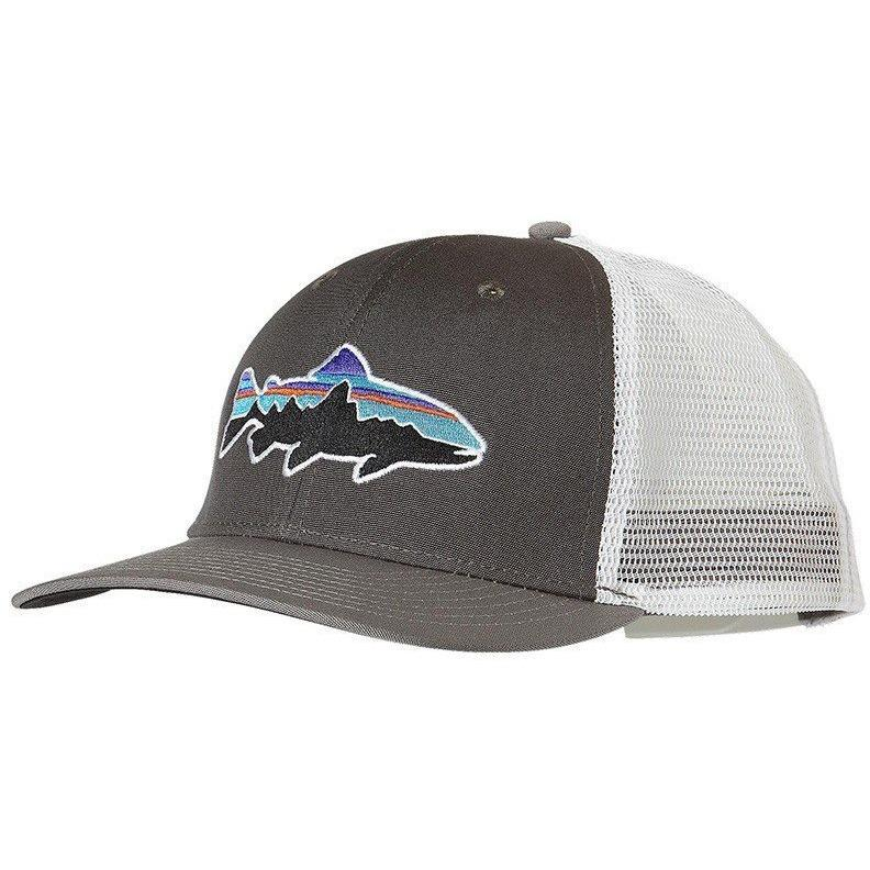 Home Accessories Patagonia Men s Fitz Roy Trout Trucker Hat. Black · Forge  Grey w Feather Grey ... 6b7c91719157
