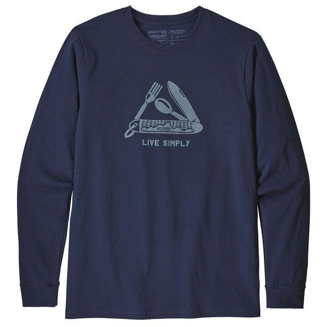 Patagonia Men's Long Sleeved Live Simply Pocketknife Responsibili-Tee Shirt
