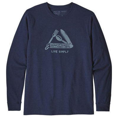 Patagonia Men's Long Sleeved Live Simply Pocketknife Responsibili-Tee Shirt - Past Season