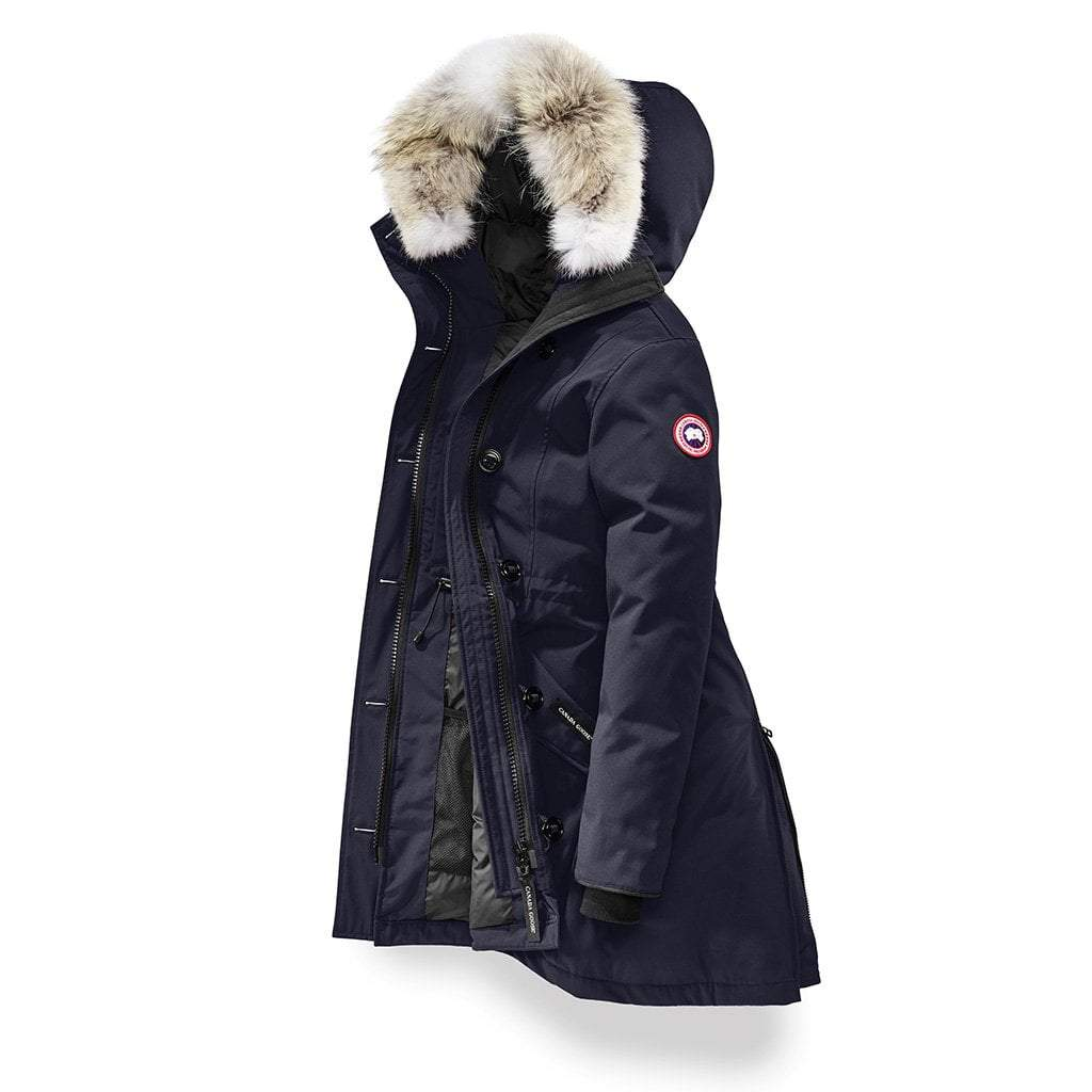Canada Goose Goose Rossclair Parka in Military Green (Blue