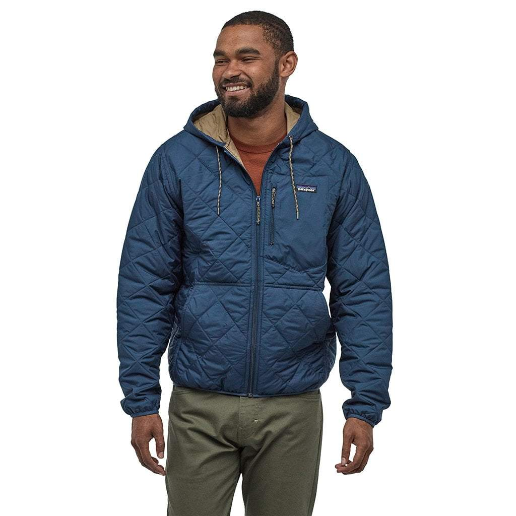 Patagonia Mens Quilted Bomber Jacket: Patagonia Men's Diamond Quilted Bomber Hoody