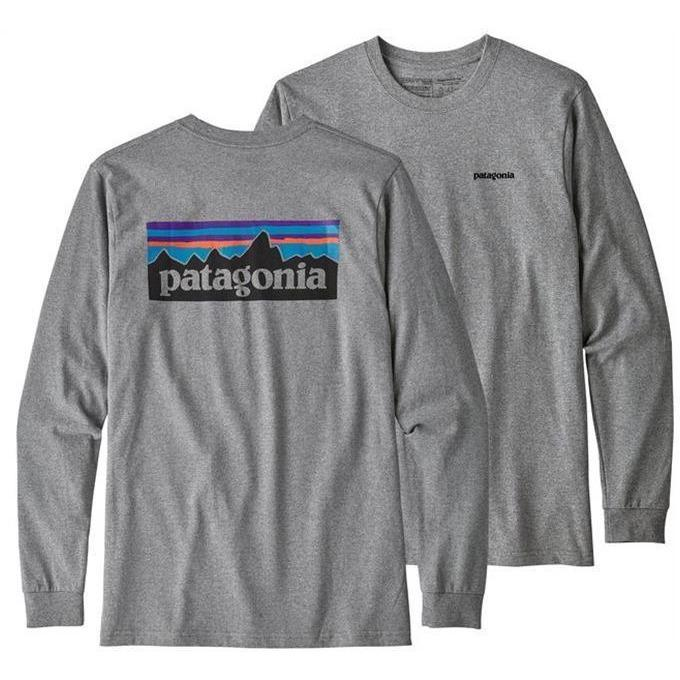 Patagonia Men's Long Sleeved P-6 Logo Responsibili-Tee Shirt