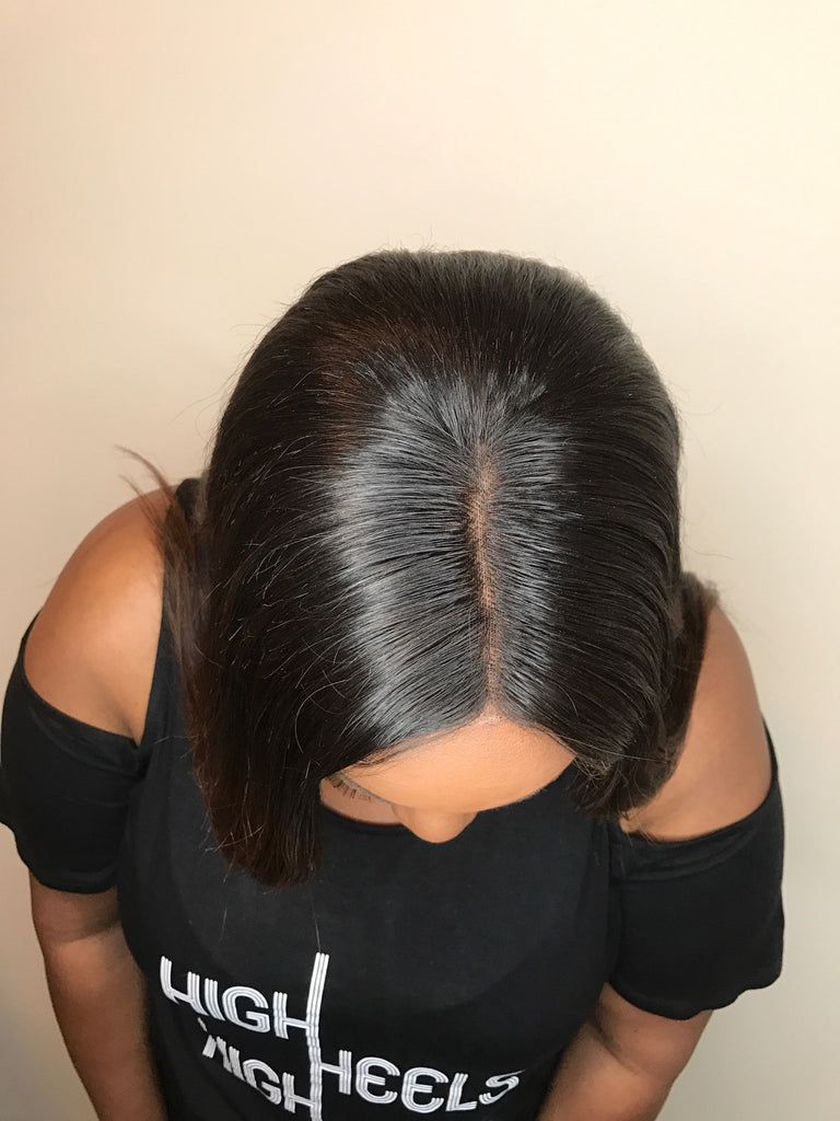 Natural part in Frontal Virgin hair