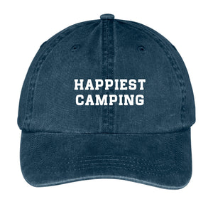 Happiest Camping Hat - Snapback Cap For Unisex - Cotton Cap Online