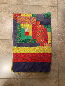 Quilt Jacket -- Primary Color Log Cabin