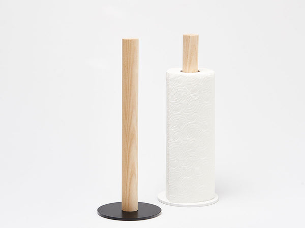 oak paper towel holder