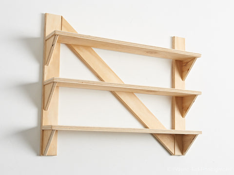 plywood kitchen shelves