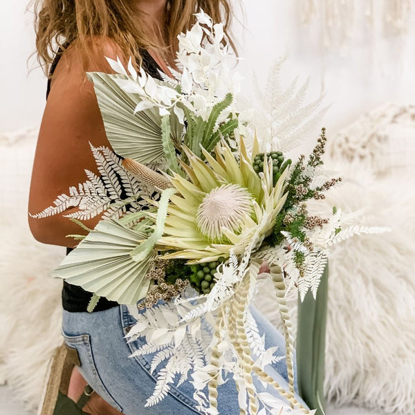 Boho style dried flower Bouquet Workshop