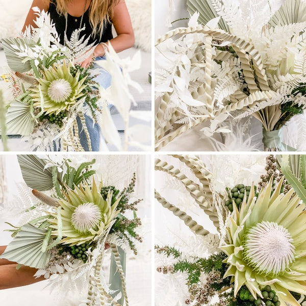 Contemporary Boho style Dried Floral Arranging Workshop Sydney
