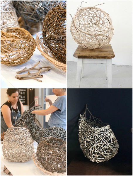 Random Weave Basketry Workshop Sydney