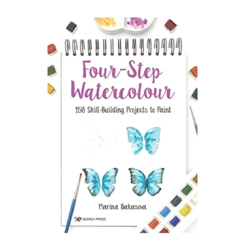 FOUR STEP WATERCOLOUR BOOK-Magazine & Books-Little Lane Workshops