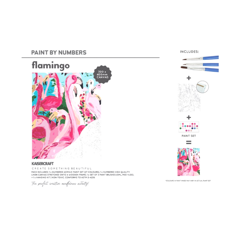 Flamingo Paint by numbers-Little Lane