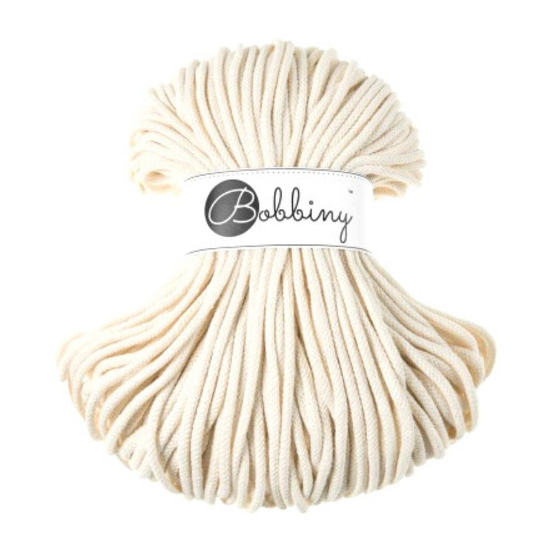 Bobbiny Braided Cord Recycle Cotton - 5mm x 100 meters-Macrame-Little Lane Workshops