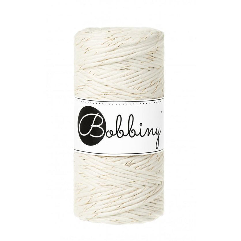 Bobbiny Gold & Natural Twisted Mop Cotton x 100 meters-Macrame-Little Lane Workshops