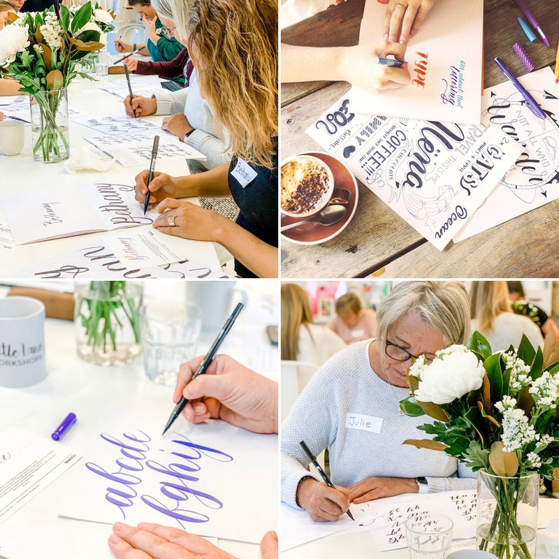 BRUSH LETTERING for Beginners-Workshop-Little Lane Workshops