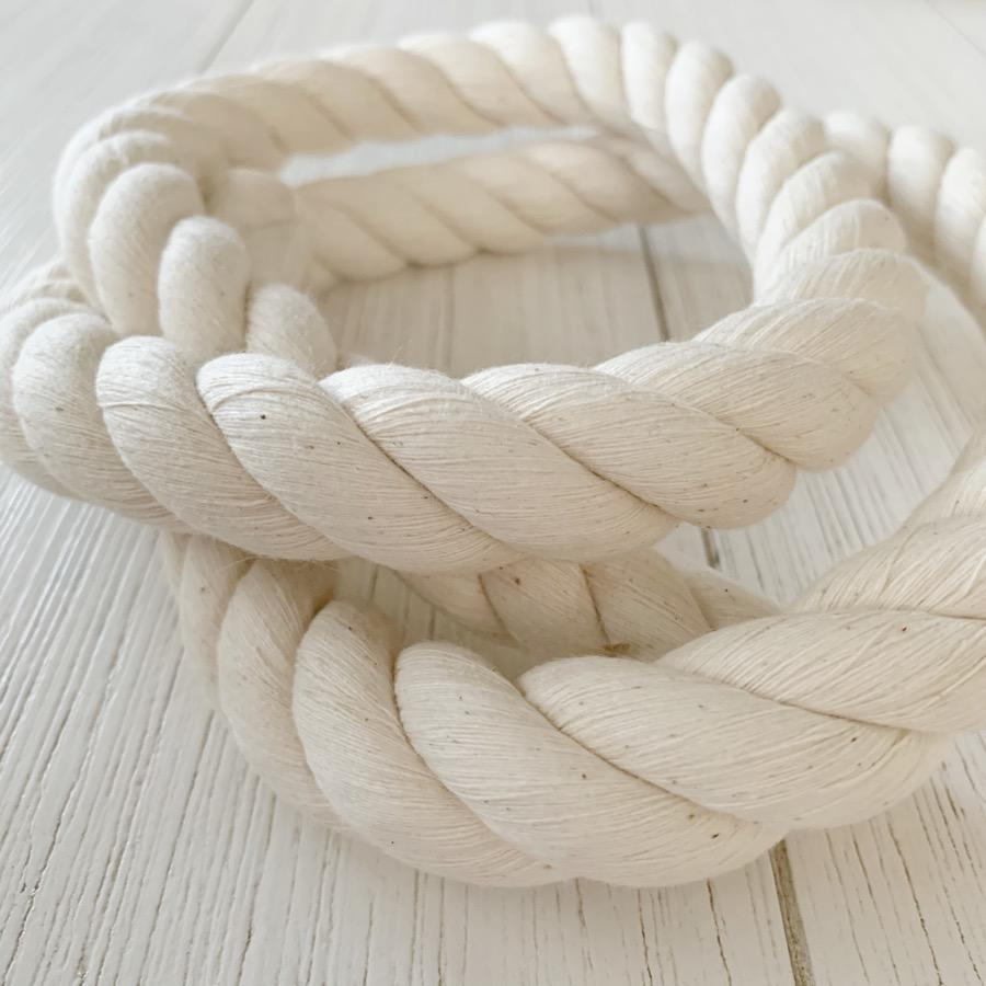 Macrame Twisted Cotton Rope 20mm-Little Lane Workshops