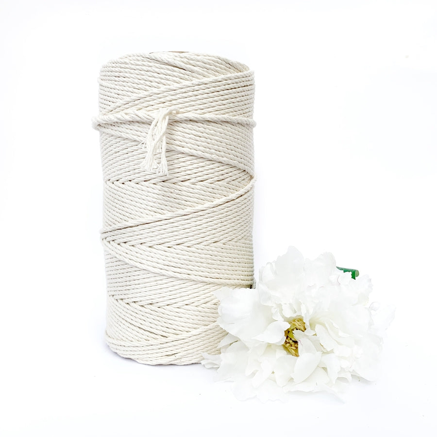 Macrame Twisted Cotton Rope 3mm-Macrame-Little Lane Workshops