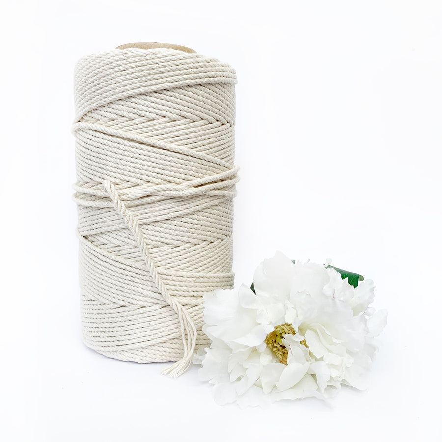 Macrame Twisted Cotton Rope 4mm-Macrame-Little Lane Workshops