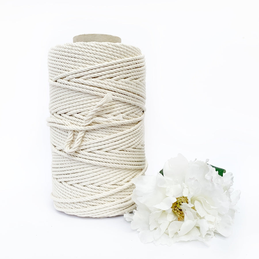 Macrame Twisted Cotton Rope 5mm-Little Lane Workshops
