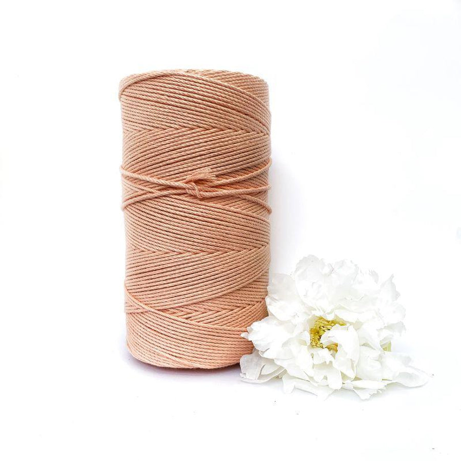 Macrame Twisted Cotton Rope - Coloured 3mm x 1kg (Approx 425 Meters)-Macrame-Little Lane Workshops
