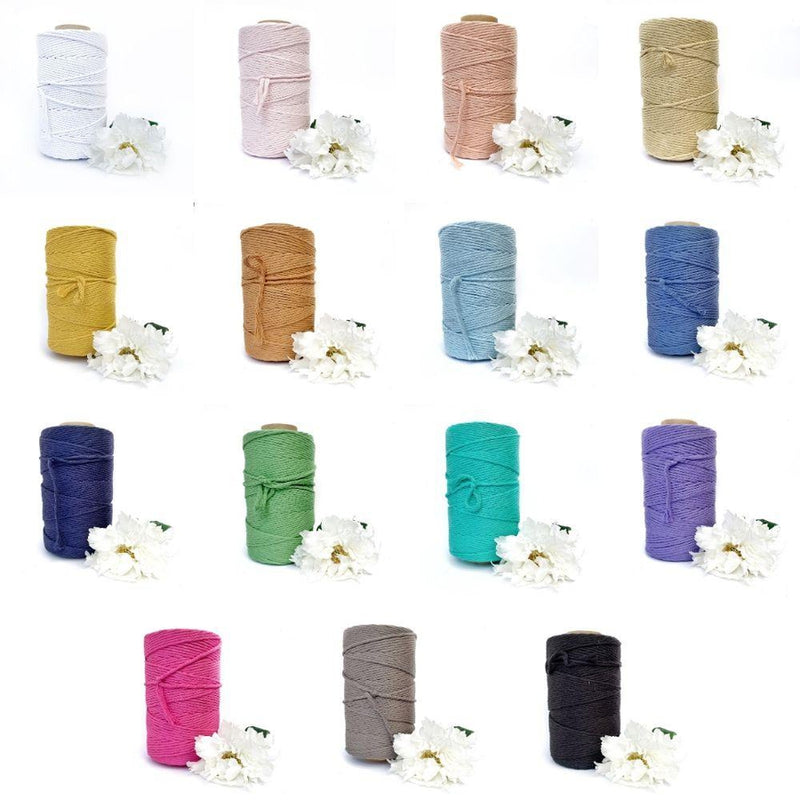 Bobbiny Rainbow Dust Twisted Mop Cotton x 100 meters
