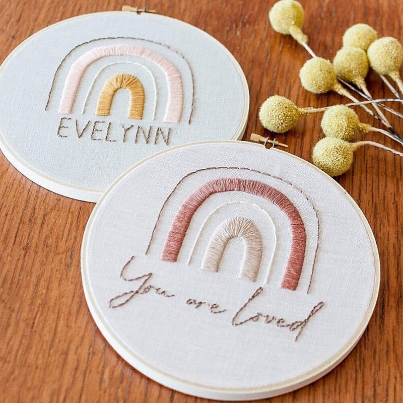 RAINBOW EMBROIDERY Kit by Brynn & Co-Little Lane