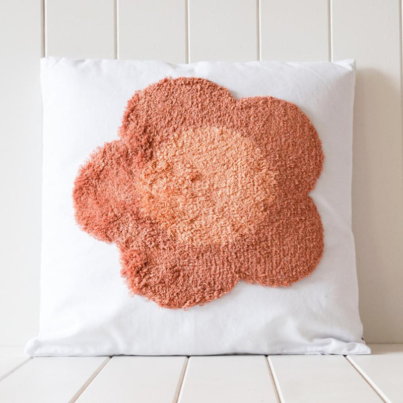 Tufted Rainbow Cushion - Blush 50cm x 30cm