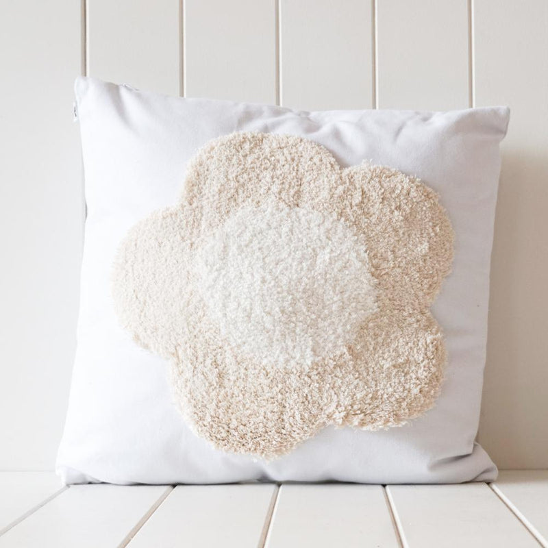 Tufted Dotty Cushion - Rust