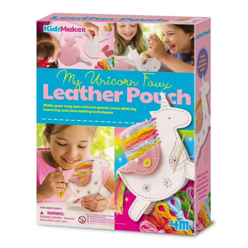 UNICORN Faux Leather Pouch KIT for Kids-Craft Kits-Little Lane Workshops