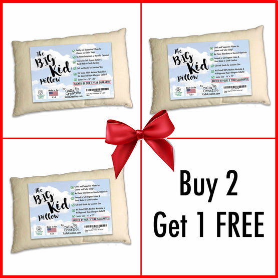 Buy 2 Get 1 Free Big Kid (Junior Size) PIllows