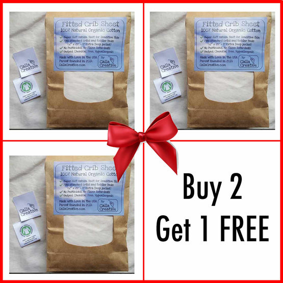 Buy 2 Get 1 Free Crib Sheets