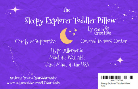 Sleepy Explorer Toddler Pillow