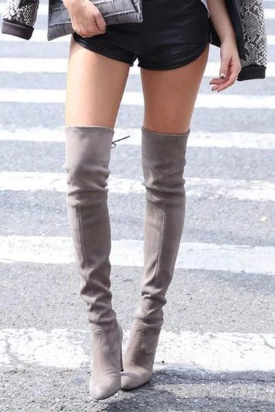 Over-the-knee Suede Boots - BEHIND HEMLINES