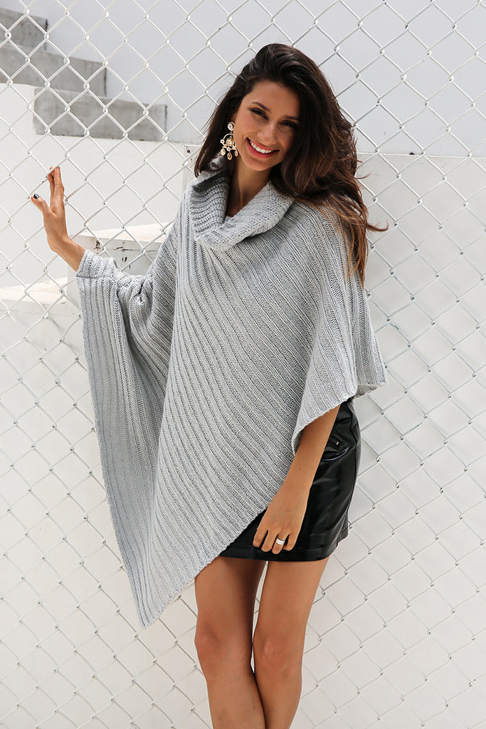 Knitted Poncho Sweater