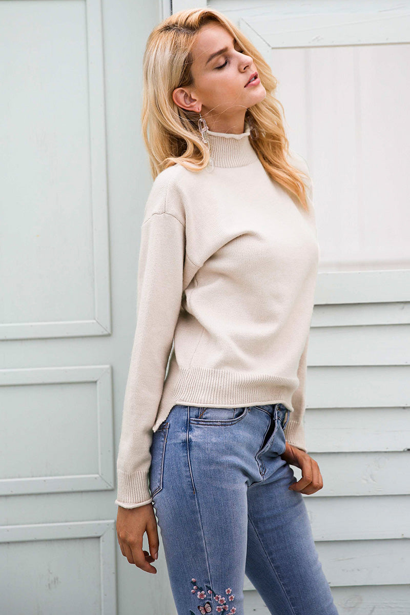 Basic Turtleneck Pullover - BEHIND HEMLINES