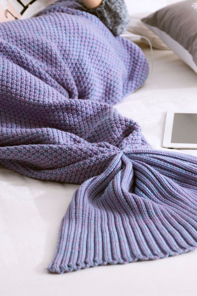 Purple Mermaid Tail Blanket - BEHIND HEMLINES - 2