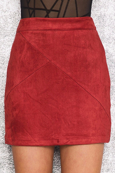 Suede Pencil Skirt - BEHIND HEMLINES - 1