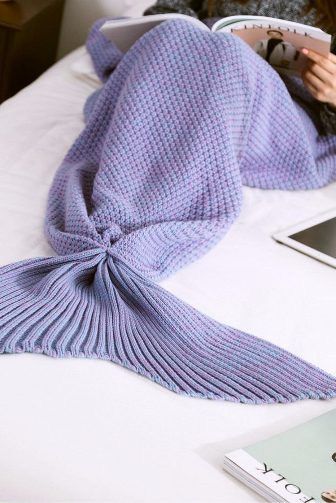 Purple Mermaid Tail Blanket - BEHIND HEMLINES - 1