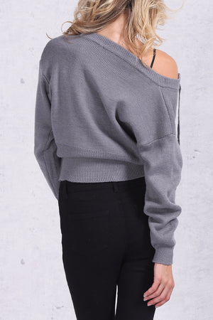 Lace Up Knitted Sweater - BEHIND HEMLINES