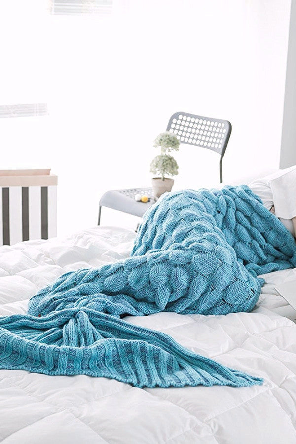 Ocean Scaly Mermaid Tail Blanket - BEHIND HEMLINES - 1