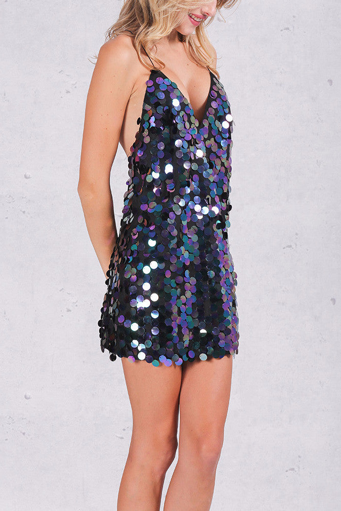 T-Back Sequined Dress - BEHIND HEMLINES